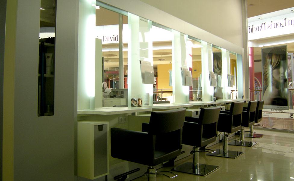 Peluquer as y centros de est tica mobiliario dise o y for Iluminacion para peluquerias