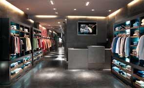 Decoración y diseños de mobiliario realizados en tiendas de ropa