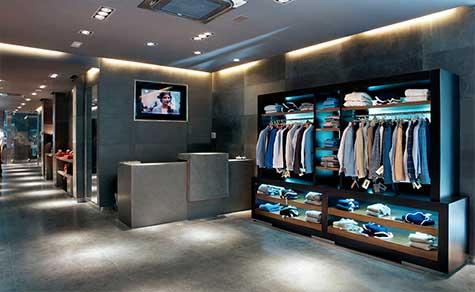 Mostrador boutique de ropa