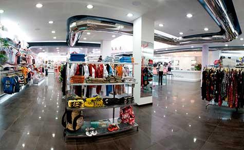 Iluminación tienda de ropa