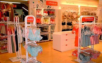 Proyectos de decoración realizados en tiendas de lencería